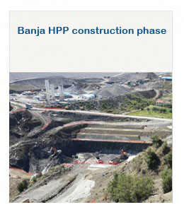 Banja HPP construction phase